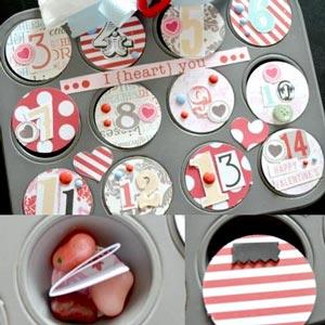 homemade valentine gifts - countdown calendar