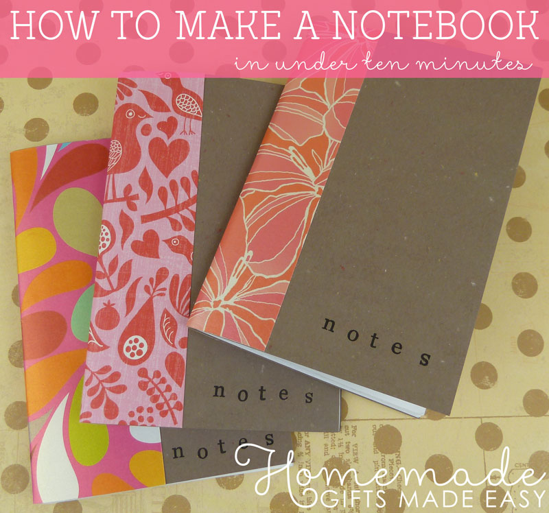 How To Make A Book Homemade : How to make a notebook