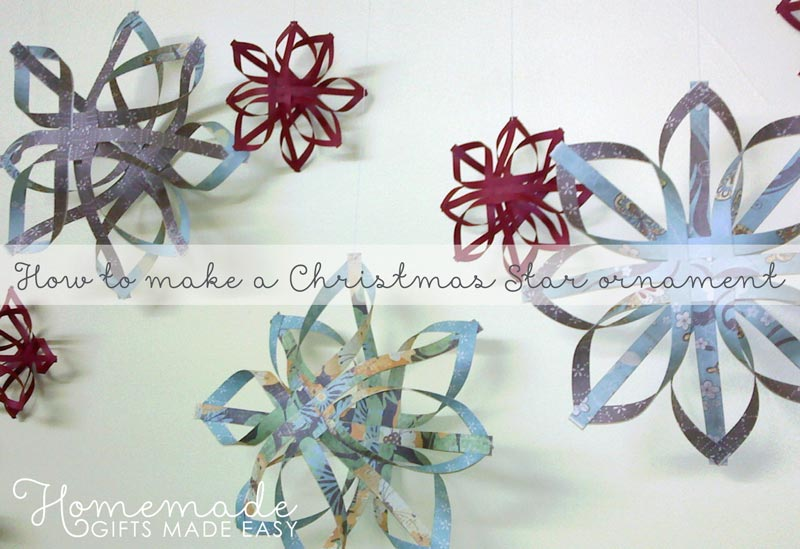 How to Make a Star Christmas Tree Ornament - Step by Step ...