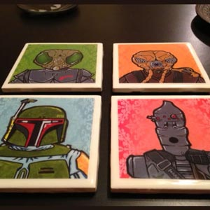tile coasters homemade christmas gift for her