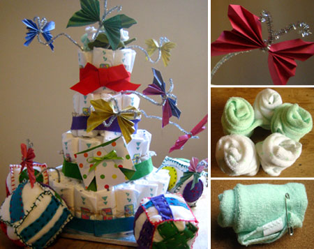 how to make diaper cakes decorations butterflies