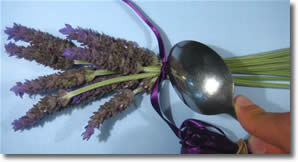 how to make lavender wands step 3