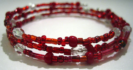 make a bead bracelet header