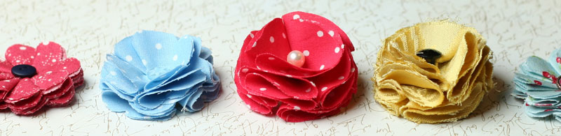 make fabric flowers