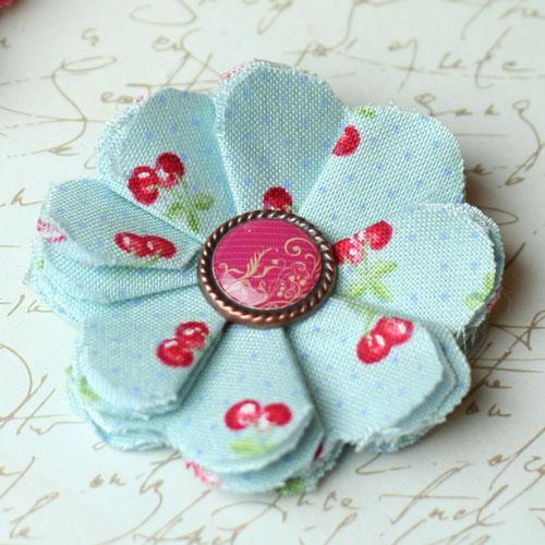 make fabric flowers flat red thumb