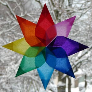 make your own christmas decorations window stars - How To Make Your Own Christmas Decorations