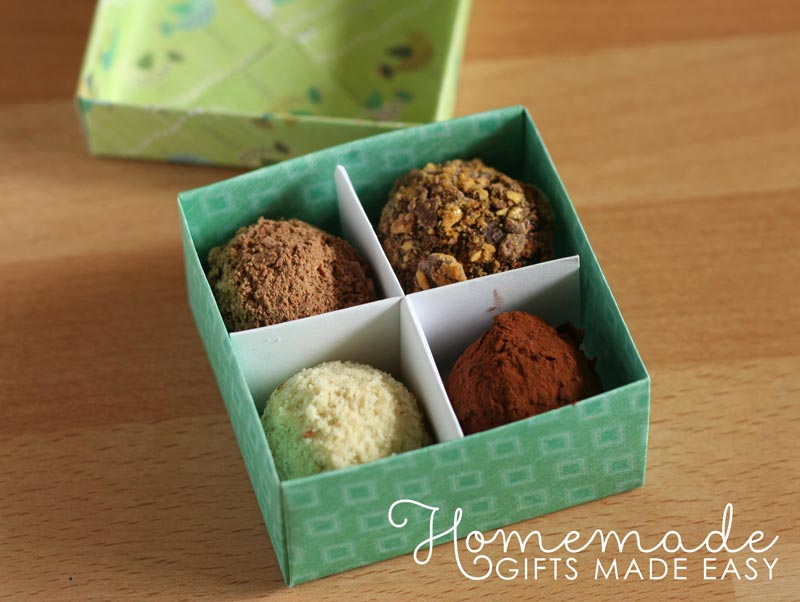 make your own gift box with divider