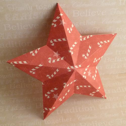 Making Christmas Decorations 3d Stars Double Sided Red