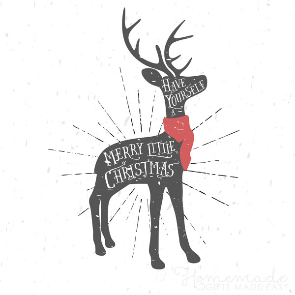 merry christmas images stag message 600x600