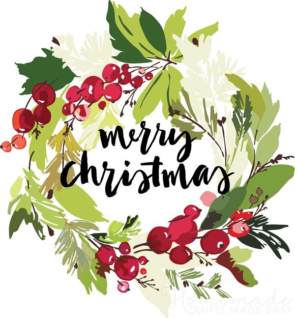 merry christmas images wreath 600x647
