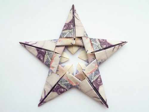 Modular Money Origami Star from 5 Bills - How to Fold Step ... - photo#13