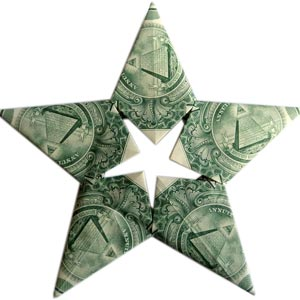 How to fold money origami or dollar bill origami modular money origami star mightylinksfo