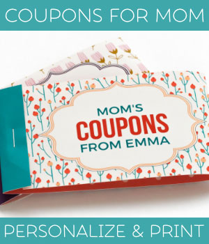 personalized mother's day coupons