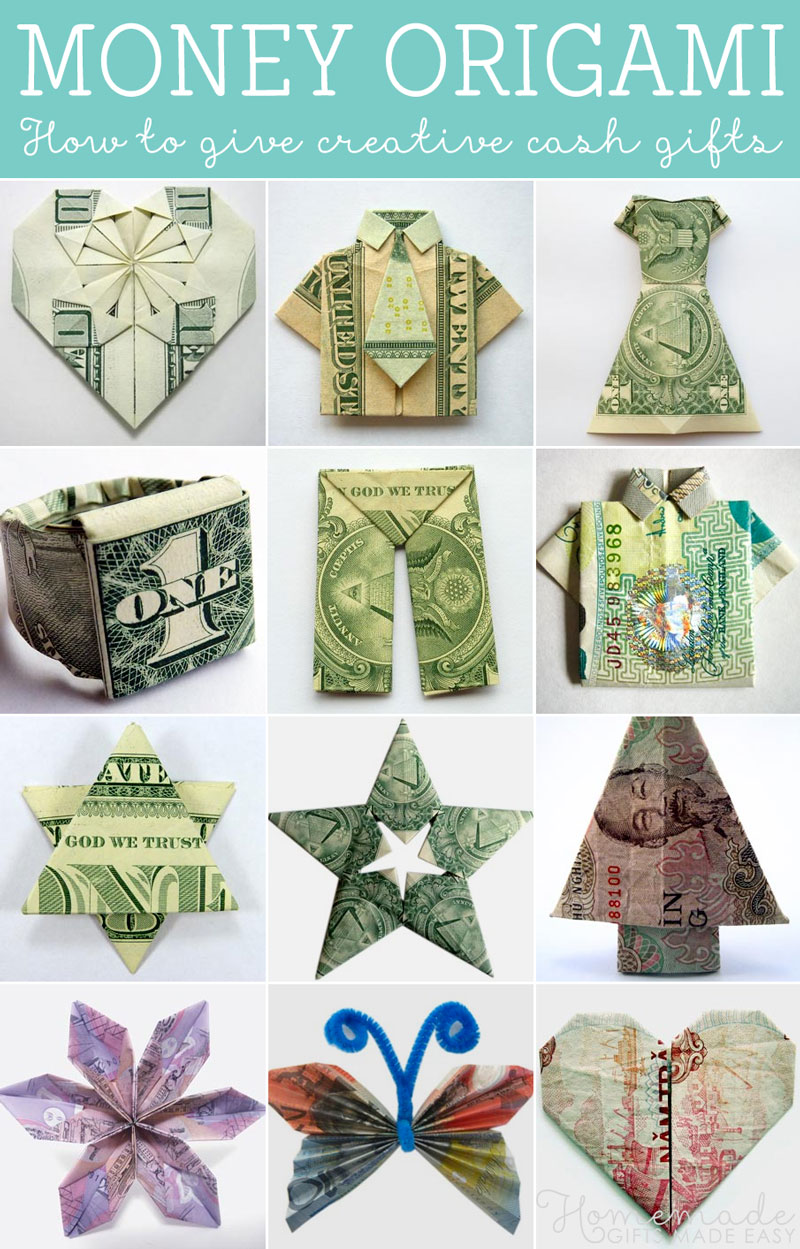 By giving an origami gift you will be continuing a long tradition. In ancient Japan Shinto noble men wrapped wedding gifts of rice wine in origami male ... & How to fold Money Origami or Dollar-Bill Origami