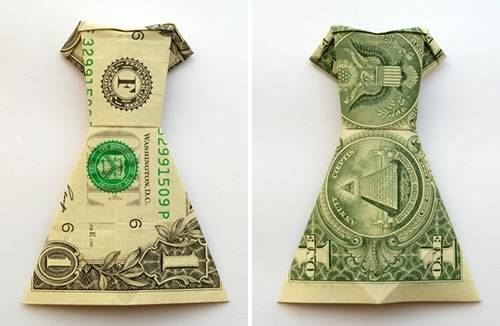 Uitgelezene Money Origami Dress - Folding Instructions with Photos & Video OY-83