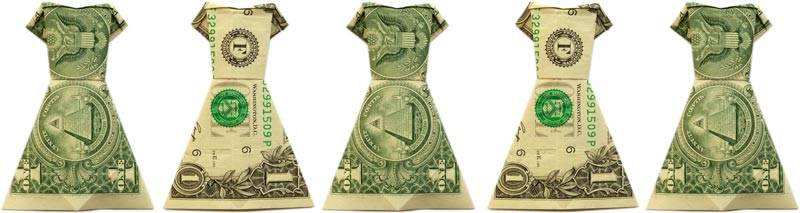 Ongebruikt Money Origami Dress - Folding Instructions with Photos & Video ZI-85