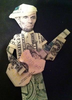 T shirt with tie money origami | Dollar origami, Origami, Money ... | 400x287