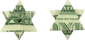 money origami star header