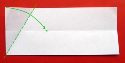 money origami star step 2