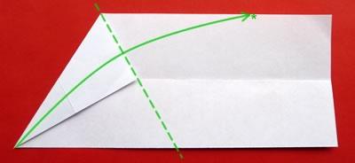 money origami star step 3