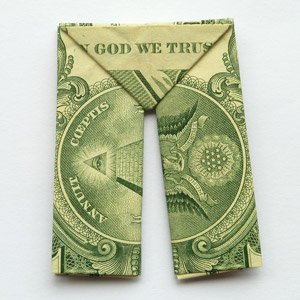 how to fold money origami or dollarbill origami