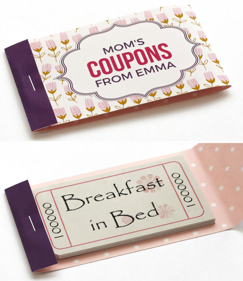 mothers day coupons tulip booklet