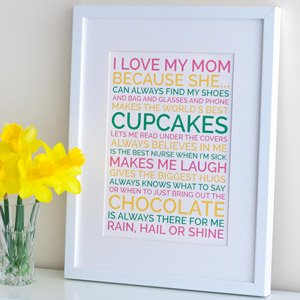 mom loves personalized poster