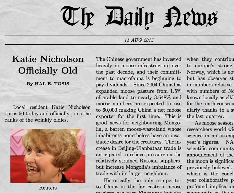 newspaper generator screenshot