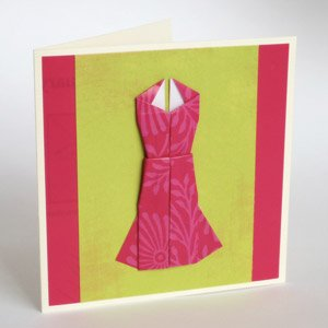 Homemade card ideas origami dress card m4hsunfo