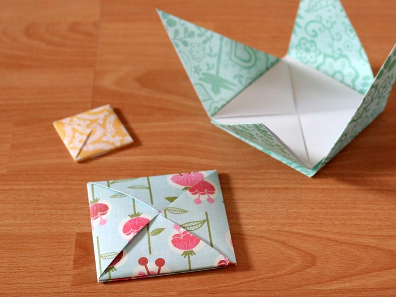 square origami envelope