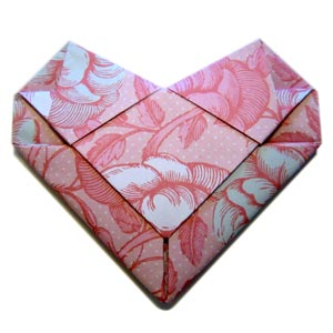 origami heart envelope