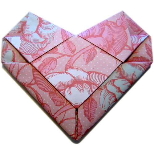 Simple envelope with heart origami,how to make an easy envelope ... | 500x500