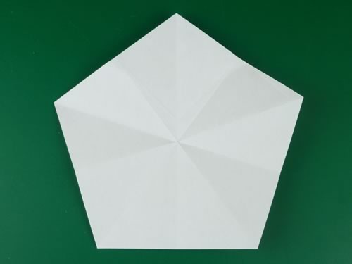 origami pentagon finished