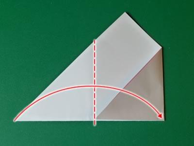 kissing lips origami valentine card step 2c
