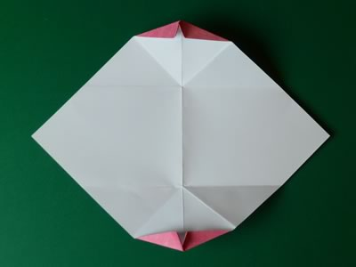 kissing lips origami valentine card step 8d