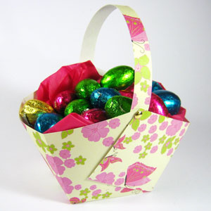 easter craft paper basket