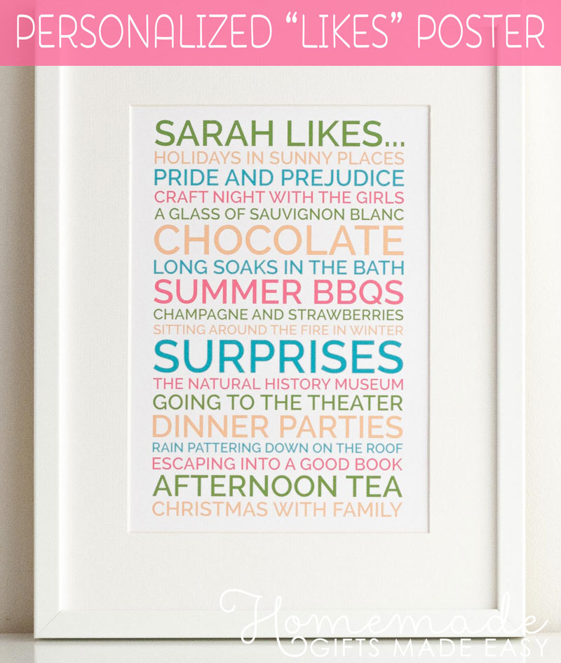 personalised likes poster created with the likes poster generator