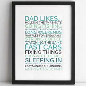 dad likes personalized poster