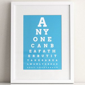 dad eye chart - Diy Christmas Gifts For Dad