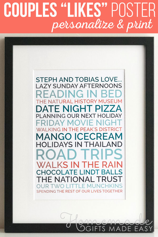 Create A Personalized Gift Your Boyfriend Will Love