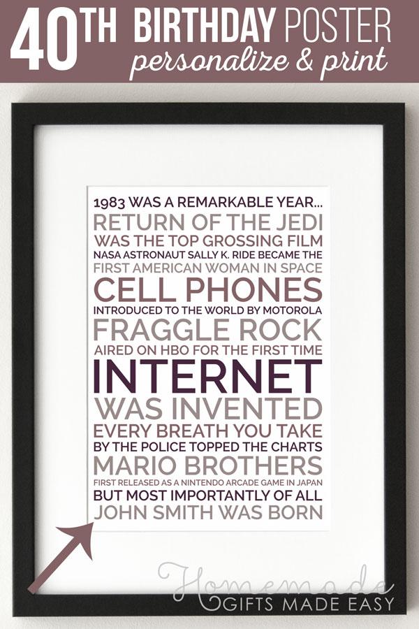 Born in 1979 Australia 40th Birthday Poster,Personalized Birthday Gift for Him,40th Birthday gift for Man,40th Birthday Sign AU facts