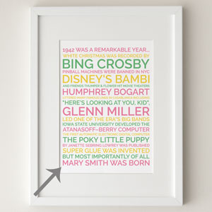 80th birthday personalized poster