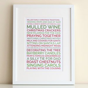 personalized poster christmas