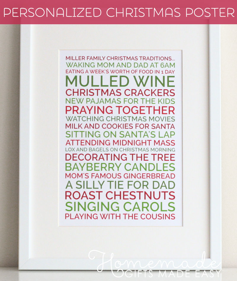 new personalized posters - Homemade Christmas Gifts For Dad