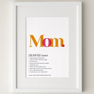 mom definition poster