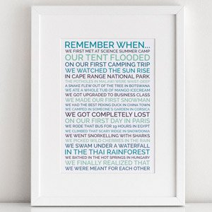 personalized remember when poster