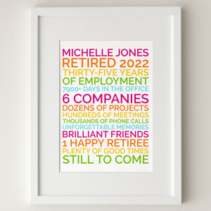 personalized retirement poster gift