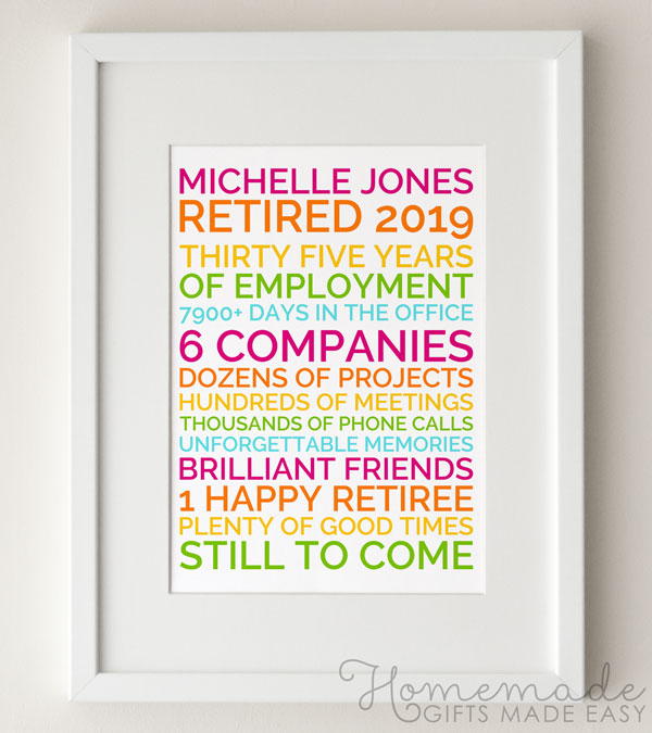 funny retirement poster gift  sc 1 st  Homemade Gifts Made Easy & 30 Thoughtful Retirement Wishes