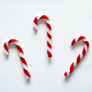 pipe cleaner candy cane christmas ornaments