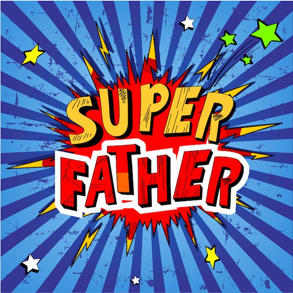printable father's day cards - Super Father
